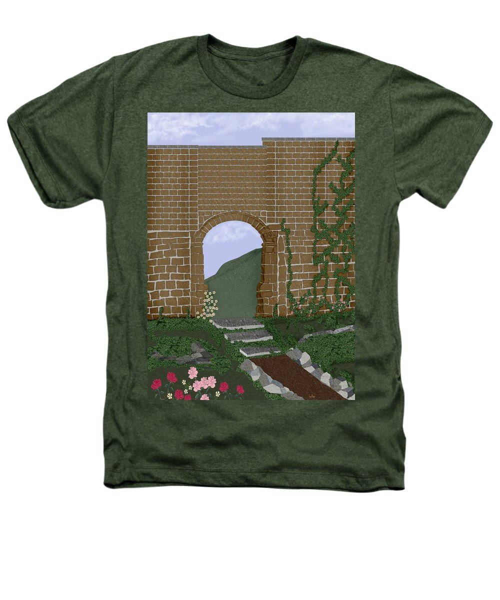 Irish Ruins Heathers T-Shirt featuring the painting Ancient Walls by Anne Norskog