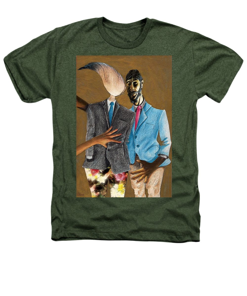 Sex Gay Androginality Couple Love Relation Heathers T-Shirt featuring the mixed media Androginality by Veronica Jackson