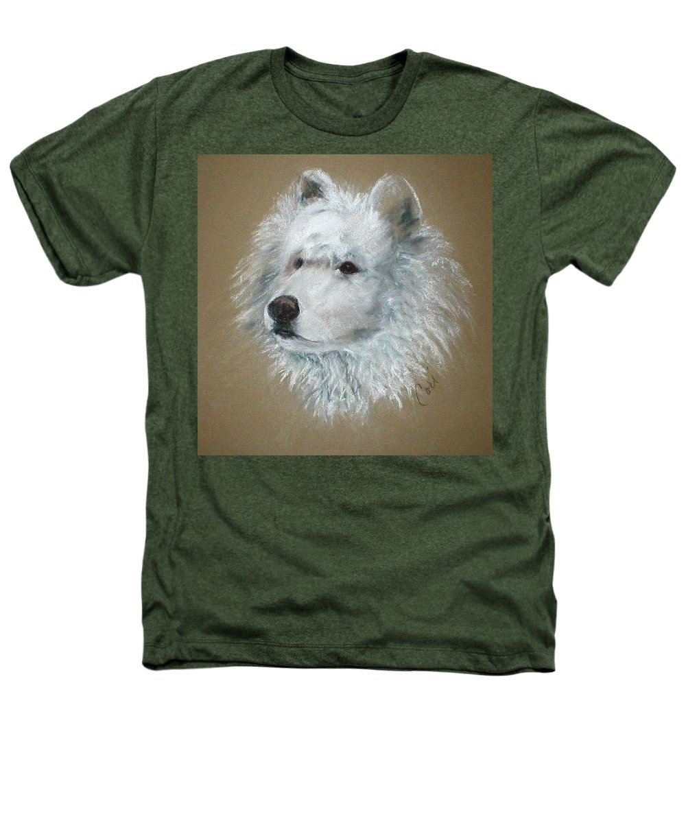 Pastel Heathers T-Shirt featuring the drawing Arctic Majestry by Cori Solomon