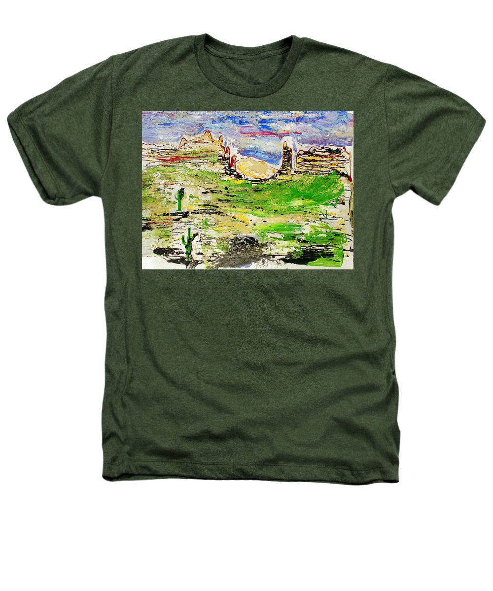 Cactus Heathers T-Shirt featuring the painting Arizona Skies by J R Seymour