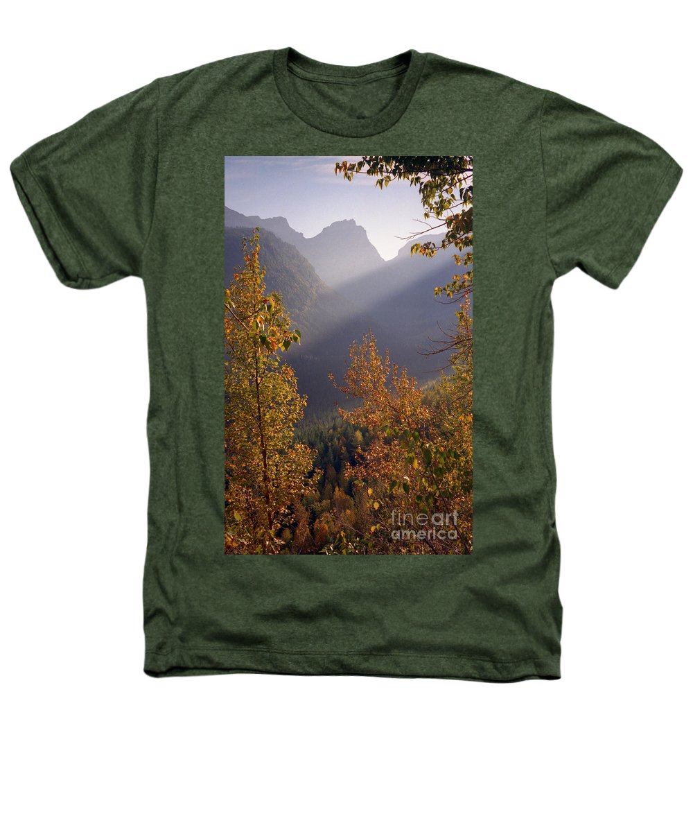 Mountains Heathers T-Shirt featuring the photograph Autumn At Logan Pass by Richard Rizzo