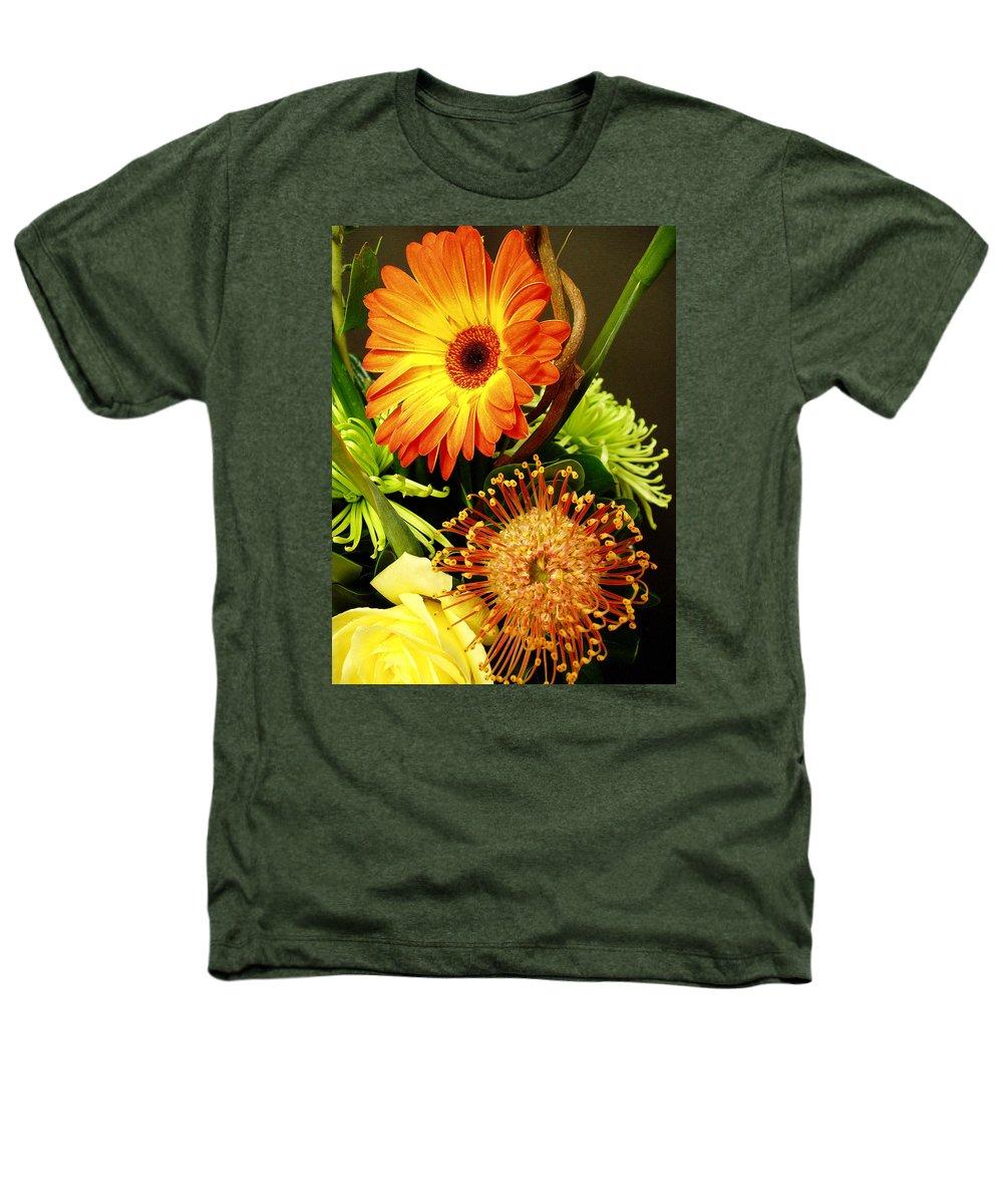 Autumn Heathers T-Shirt featuring the photograph Autumn Flower Arrangement by Nancy Mueller