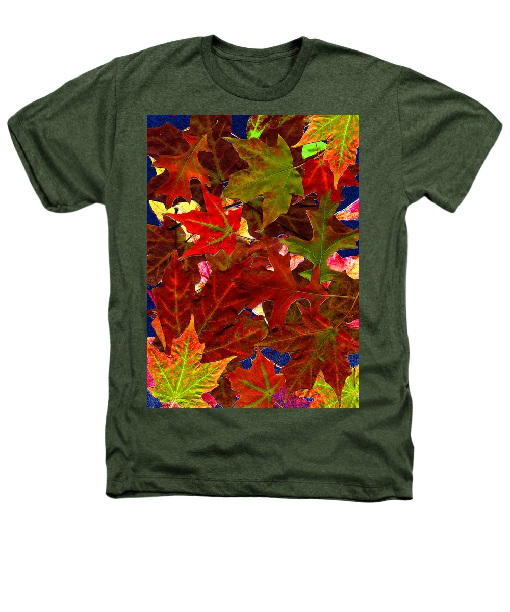 Collage Heathers T-Shirt featuring the photograph Autumn Leaves by Nancy Mueller