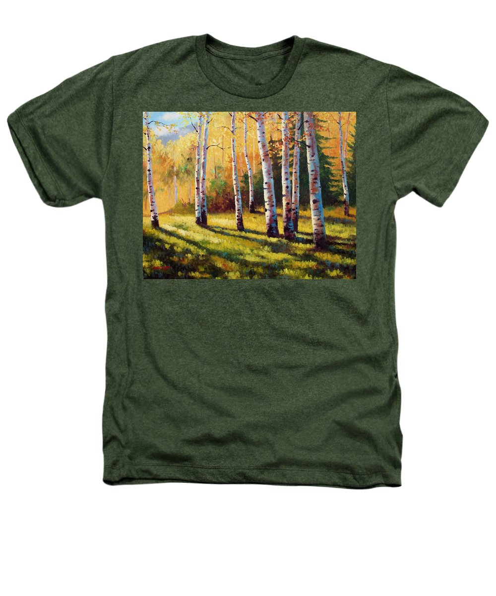 Landscape Heathers T-Shirt featuring the painting Autumn Shade by David G Paul