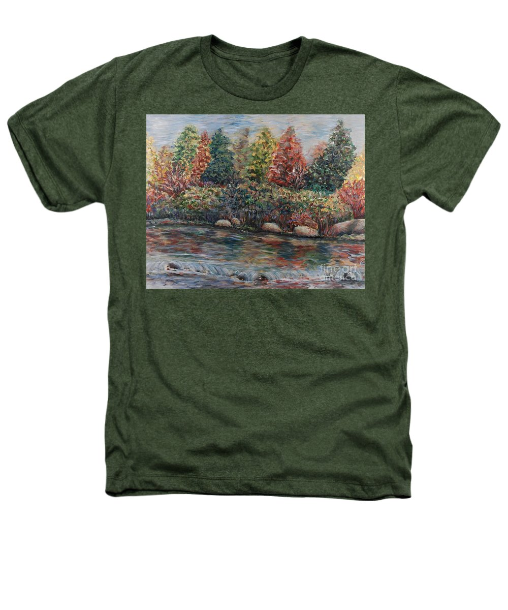 Autumn Heathers T-Shirt featuring the painting Autumn Stream by Nadine Rippelmeyer
