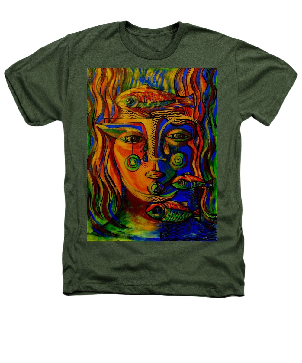 Inga Vereshchagina Heathers T-Shirt featuring the painting Autumn Tears by Inga Vereshchagina