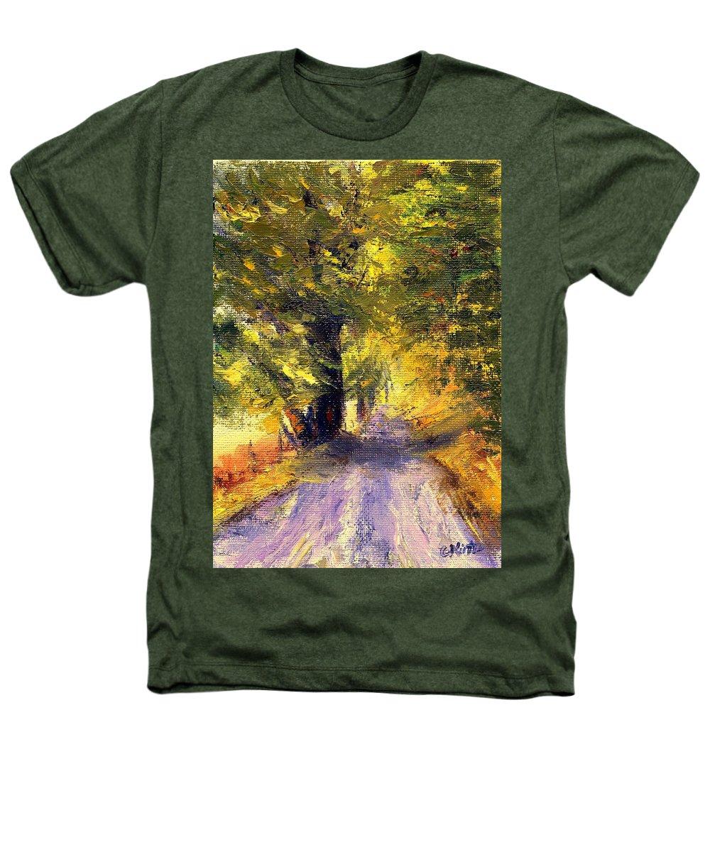 Autumn Heathers T-Shirt featuring the painting Autumn Walk by Gail Kirtz