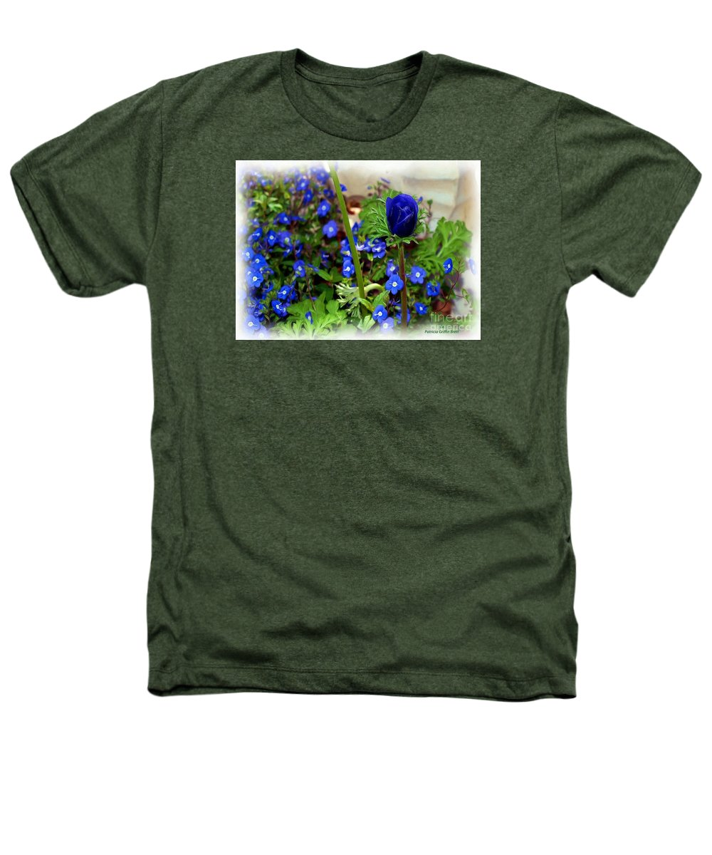 Fine Art Heathers T-Shirt featuring the painting Babys Got The Blues by Patricia Griffin Brett