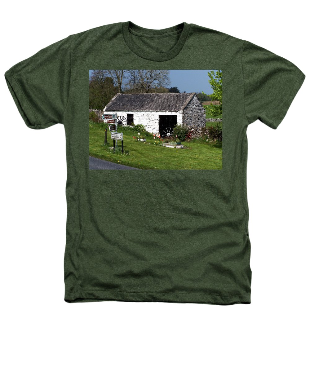 Ireland Heathers T-Shirt featuring the photograph Barn At Fuerty Church Roscommon Ireland by Teresa Mucha