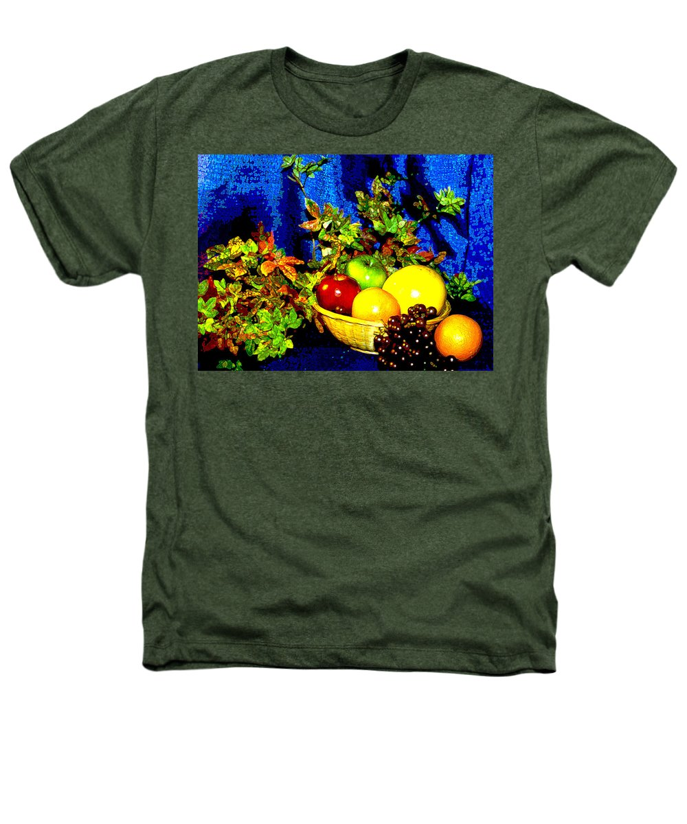 Fruit Heathers T-Shirt featuring the photograph Basket With Fruit by Nancy Mueller
