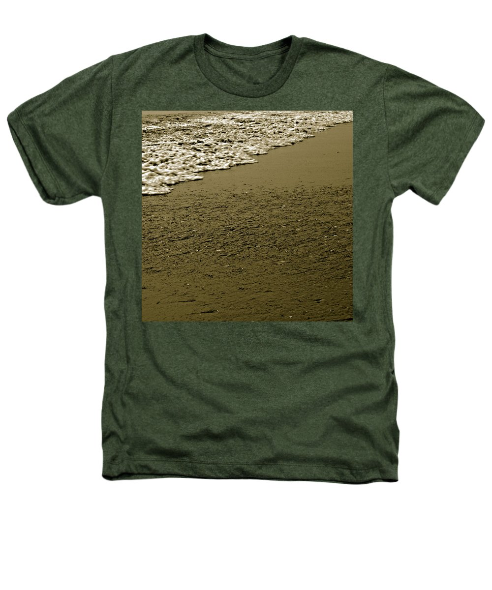 Water Heathers T-Shirt featuring the photograph Beach Texture by Jean Macaluso
