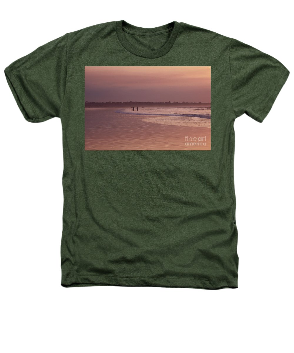 Ecuador Heathers T-Shirt featuring the photograph Beachcombers by Kathy McClure
