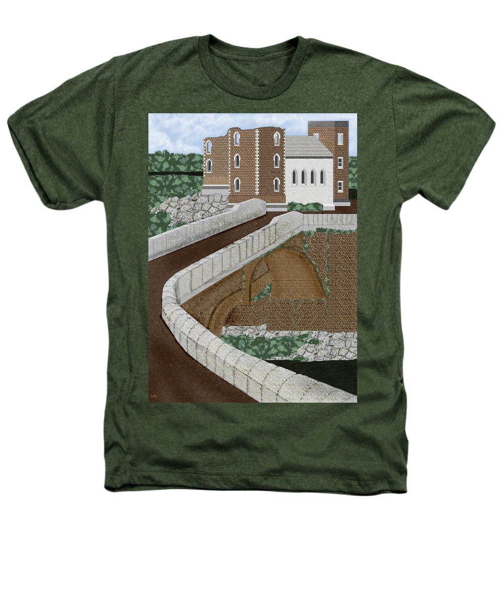 Castle Ruins Heathers T-Shirt featuring the painting Beloved Ruins by Anne Norskog
