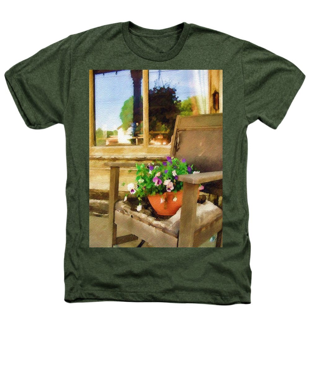 Pansies Heathers T-Shirt featuring the photograph Best Seat In The House by Sandy MacGowan