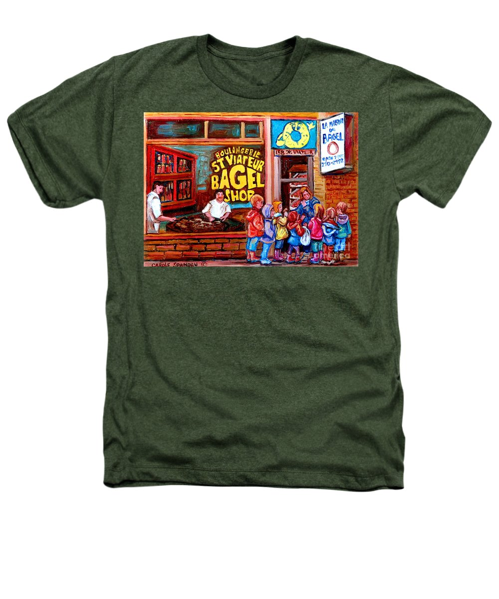Children Heathers T-Shirt featuring the painting Bet You Cant Eat Just One by Carole Spandau