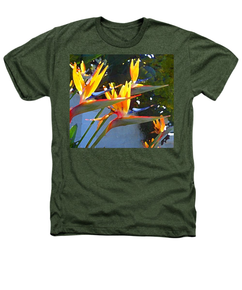 Abstract Heathers T-Shirt featuring the painting Bird Of Paradise Backlit By Sun by Amy Vangsgard