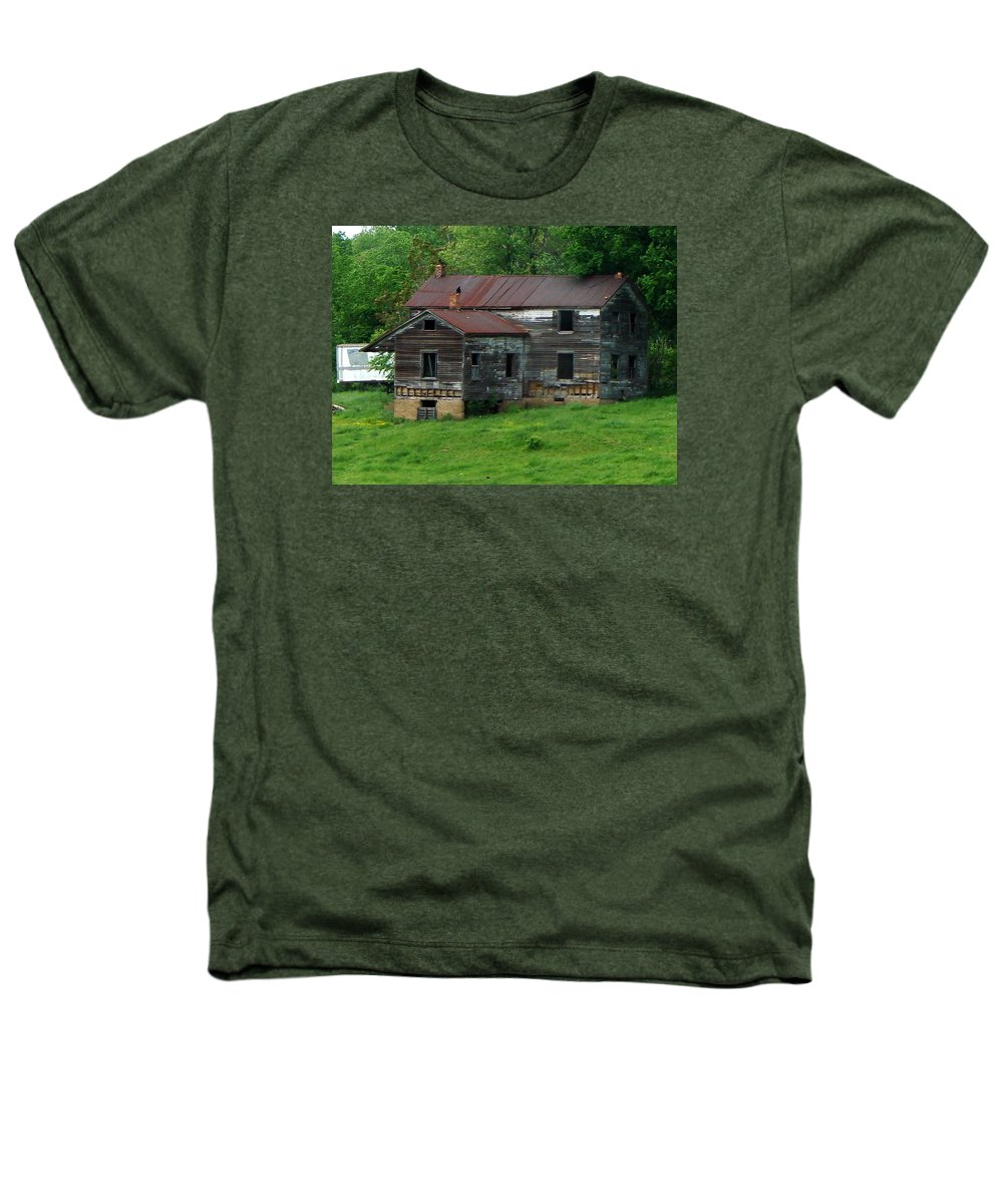 Oldhouse Heathers T-Shirt featuring the photograph Birds On Chimneys by J R  Seymour