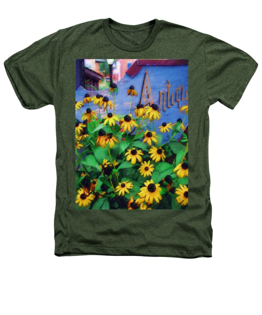Flowers Heathers T-Shirt featuring the photograph Black-eyed Susans At The Bag Factory by Sandy MacGowan