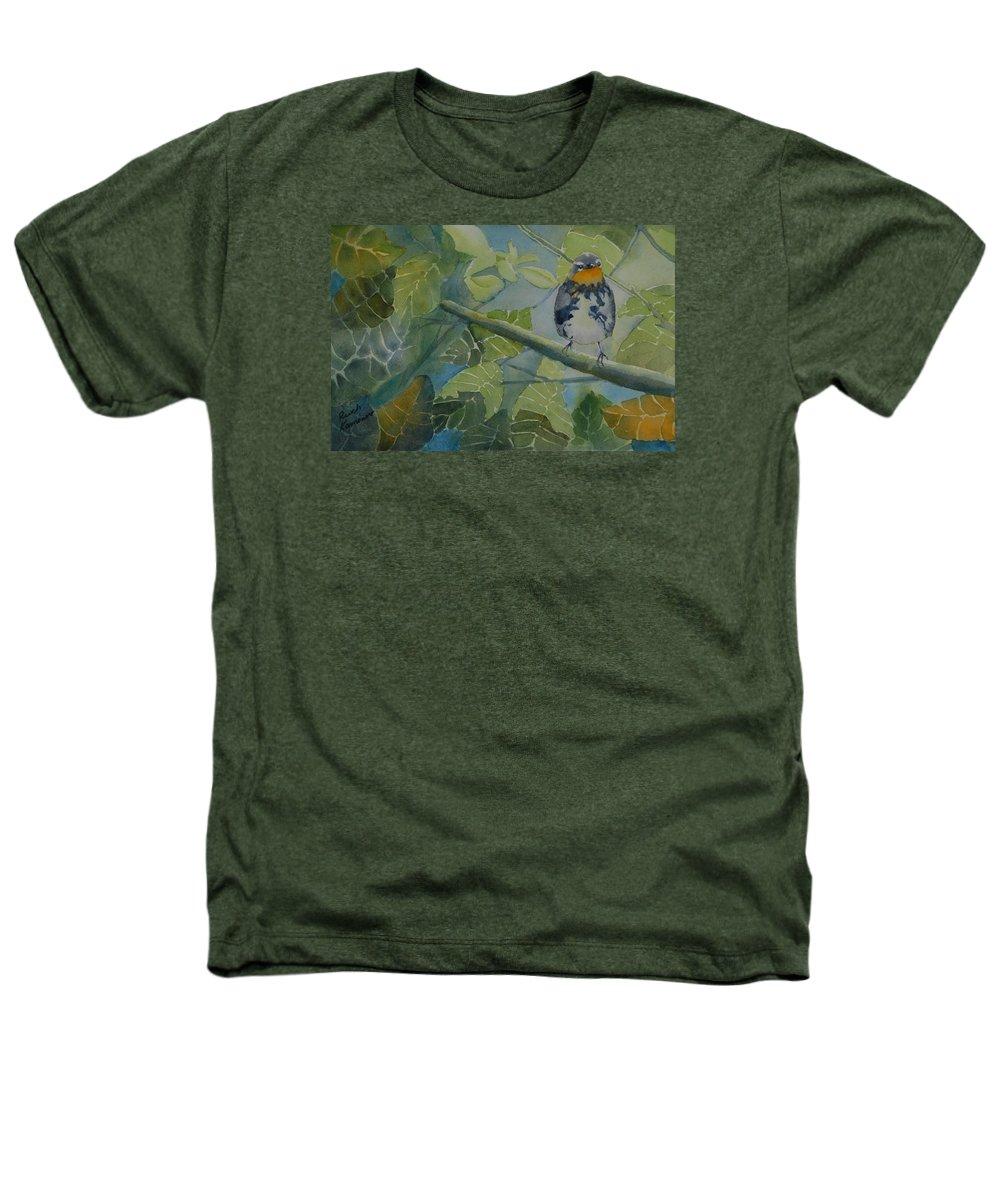 Bird Heathers T-Shirt featuring the painting Blackburnian Warbler I by Ruth Kamenev