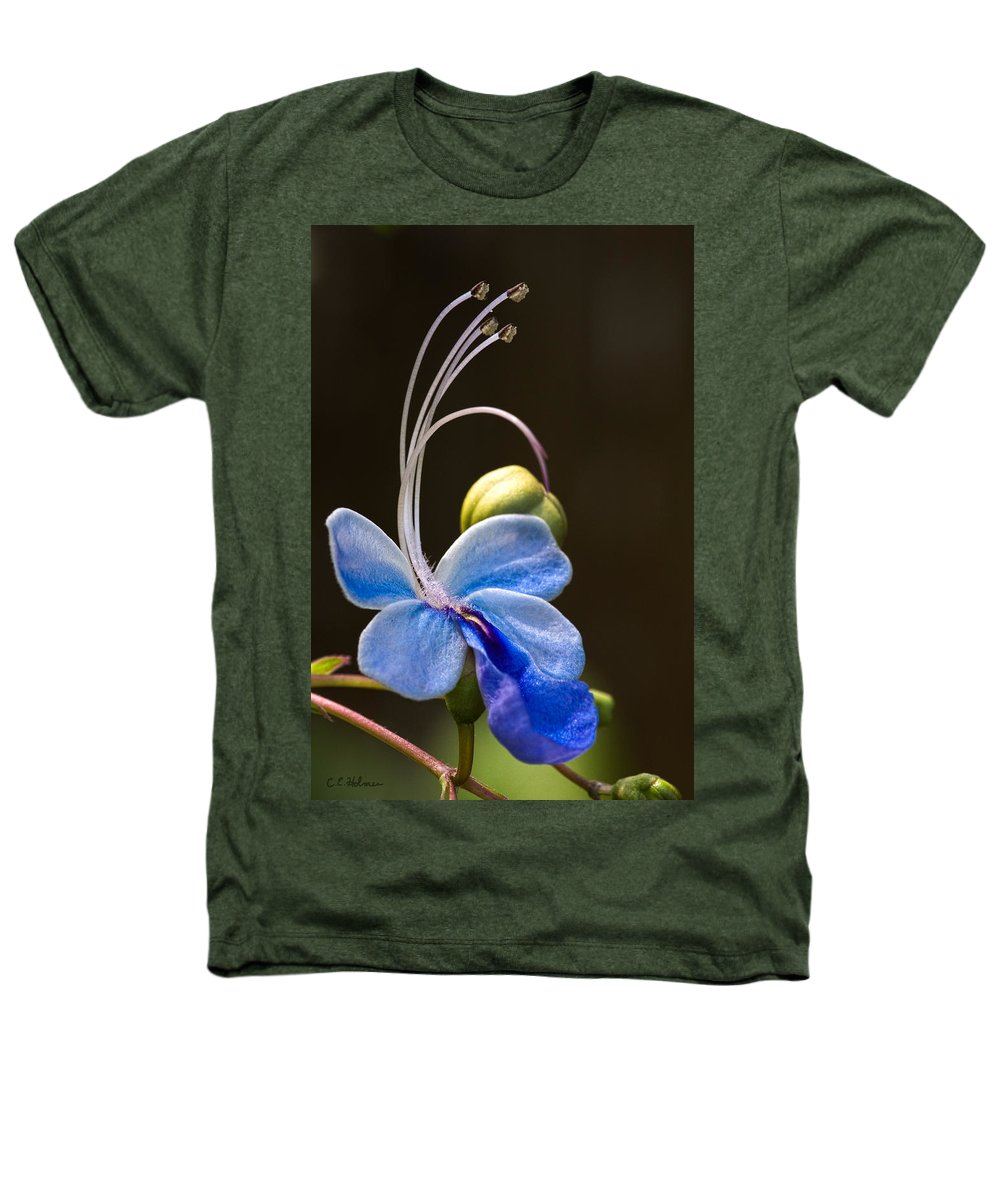 Flower Heathers T-Shirt featuring the photograph Blooming Butterfly by Christopher Holmes