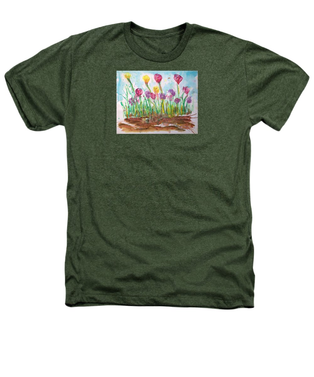 Flowers Heathers T-Shirt featuring the painting Blooming Colors by J R Seymour