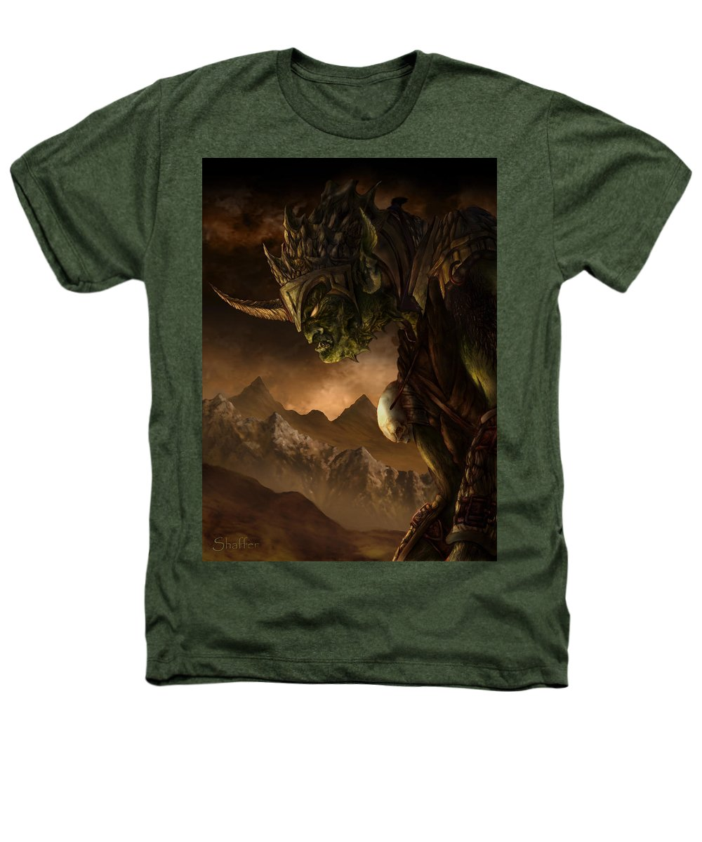 Goblin Heathers T-Shirt featuring the mixed media Bolg The Goblin King by Curtiss Shaffer