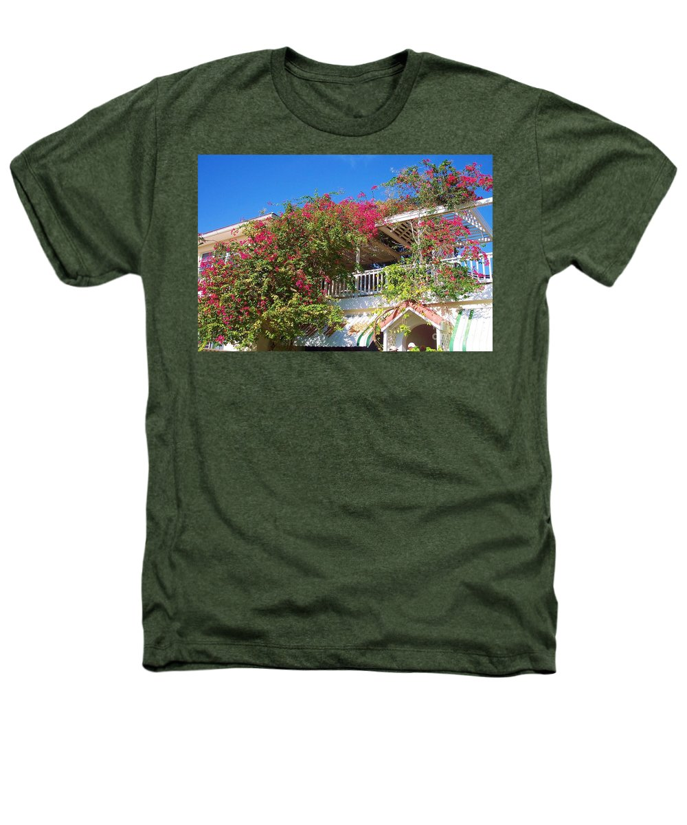 Flowers Heathers T-Shirt featuring the photograph Bougainvillea Villa by Debbi Granruth