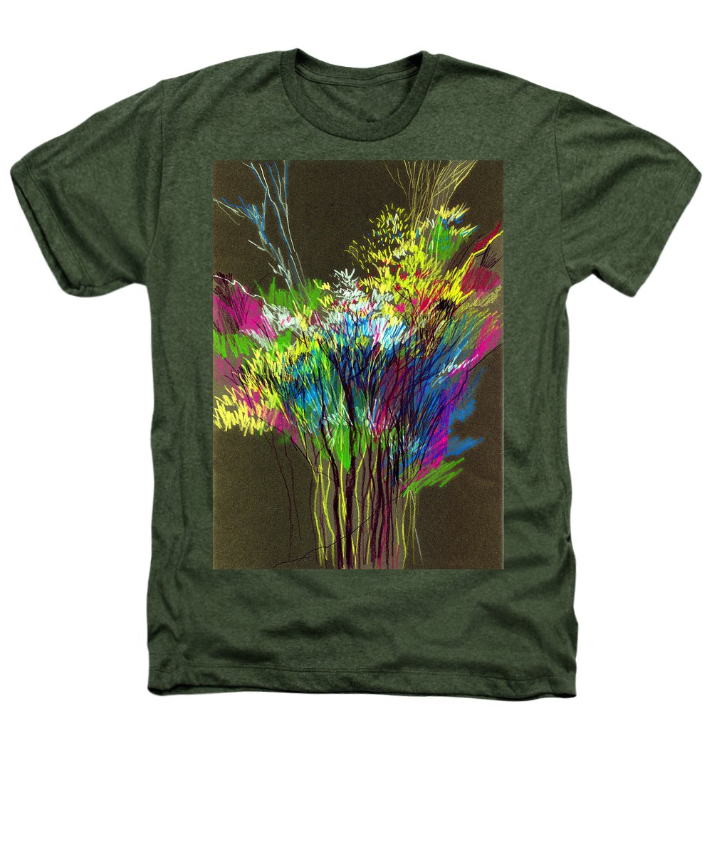 Flowers Heathers T-Shirt featuring the painting Bouquet by Anil Nene