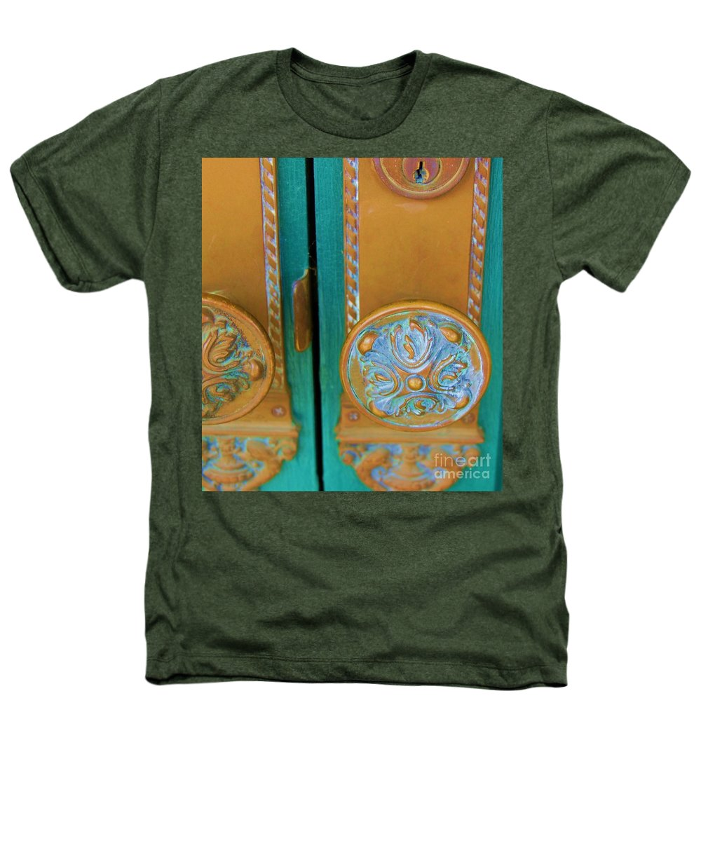 Door Heathers T-Shirt featuring the photograph Brass Is Green by Debbi Granruth