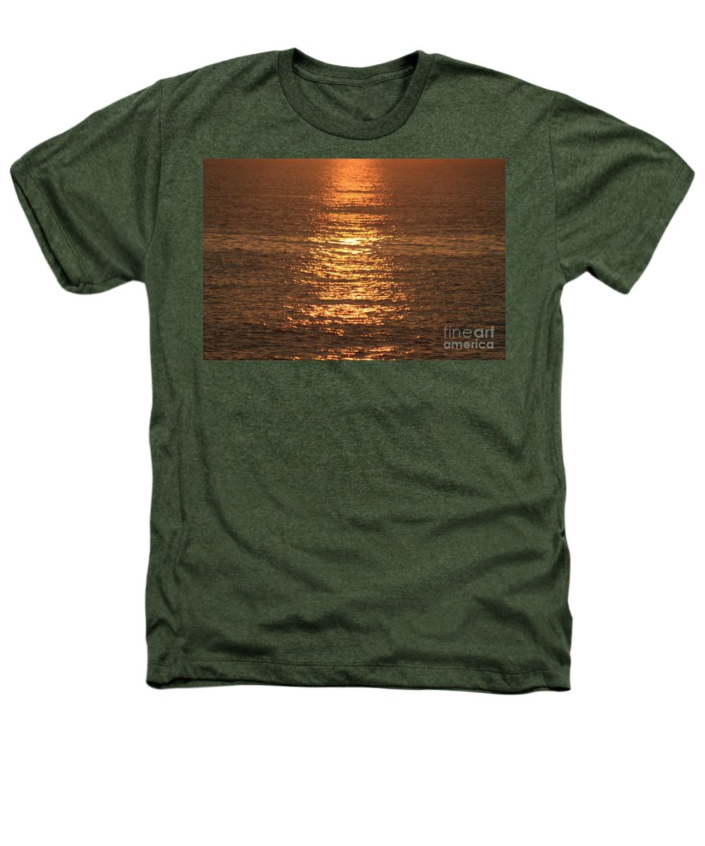 Ocean Heathers T-Shirt featuring the photograph Bronze Reflections by Nadine Rippelmeyer
