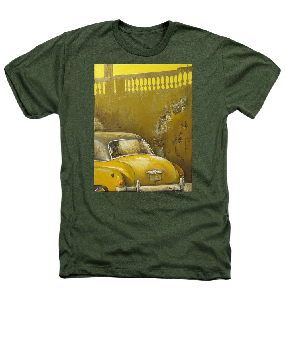 Havana Heathers T-Shirt featuring the painting Buscando La Sombra by Tomas Castano