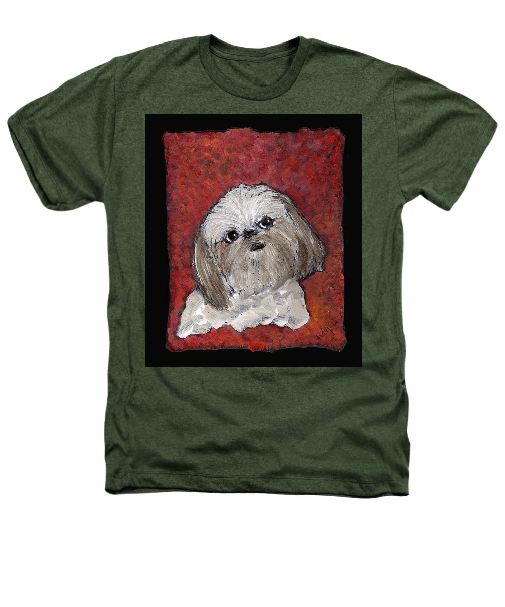 Dog Heathers T-Shirt featuring the painting Buster by Wayne Potrafka