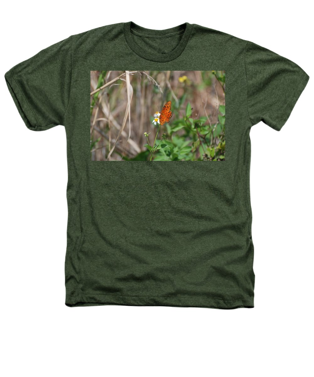 Nature Heathers T-Shirt featuring the photograph Butterfly On Flower by Rob Hans