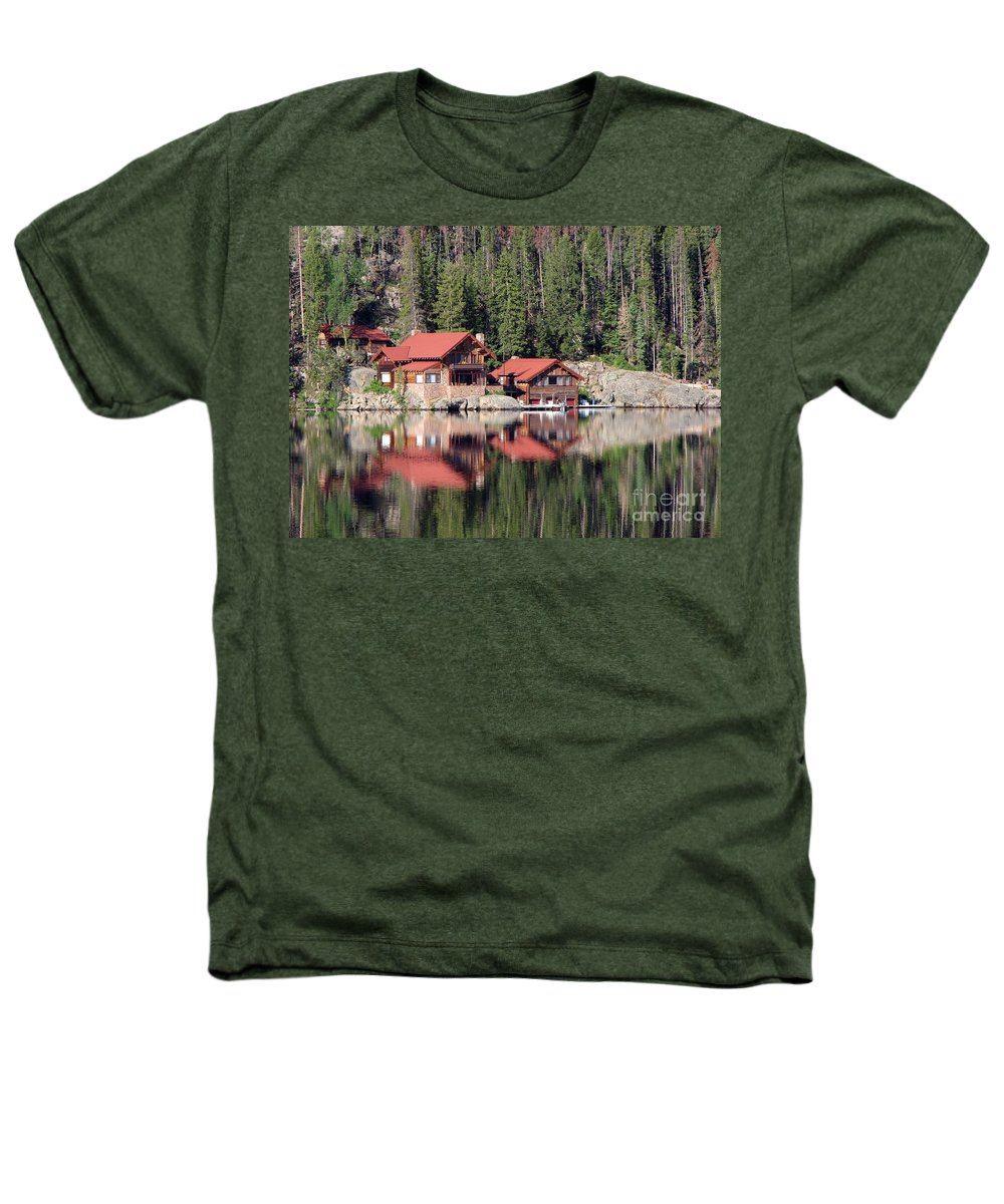 Cabin Heathers T-Shirt featuring the photograph Cabin by Amanda Barcon