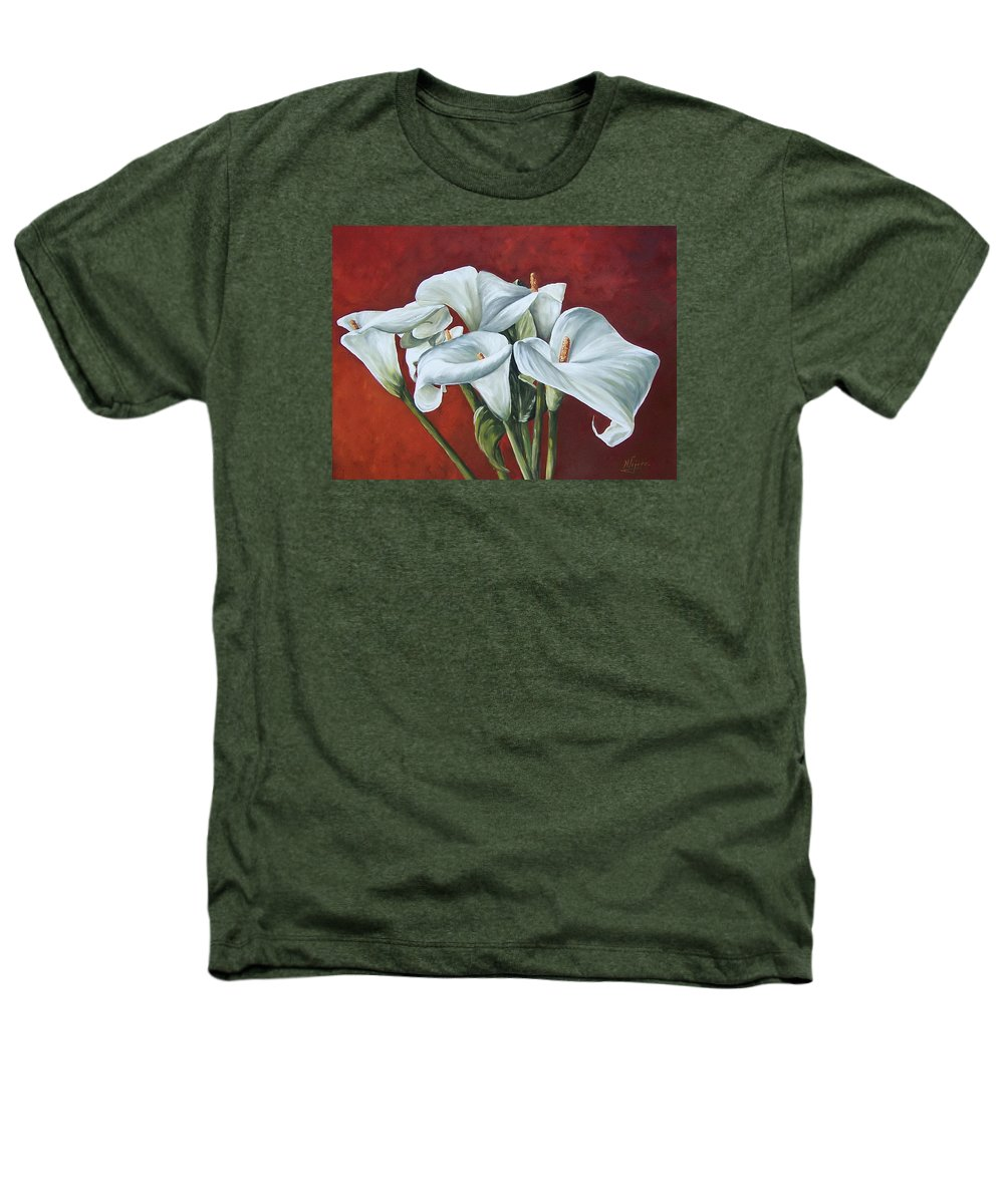 Calas Heathers T-Shirt featuring the painting Calas by Natalia Tejera