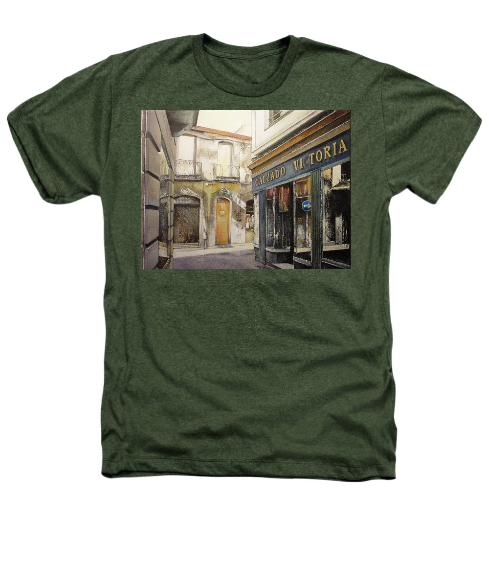 Calzados Heathers T-Shirt featuring the painting Calzados Victoria-leon by Tomas Castano