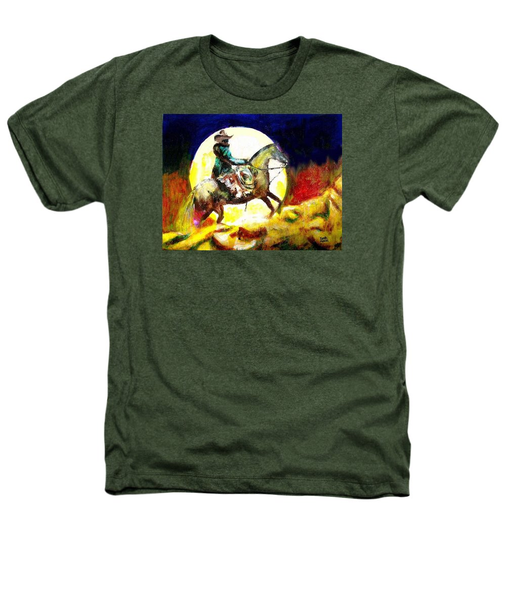 Canyon Moon Heathers T-Shirt featuring the painting Canyon Moon by Seth Weaver