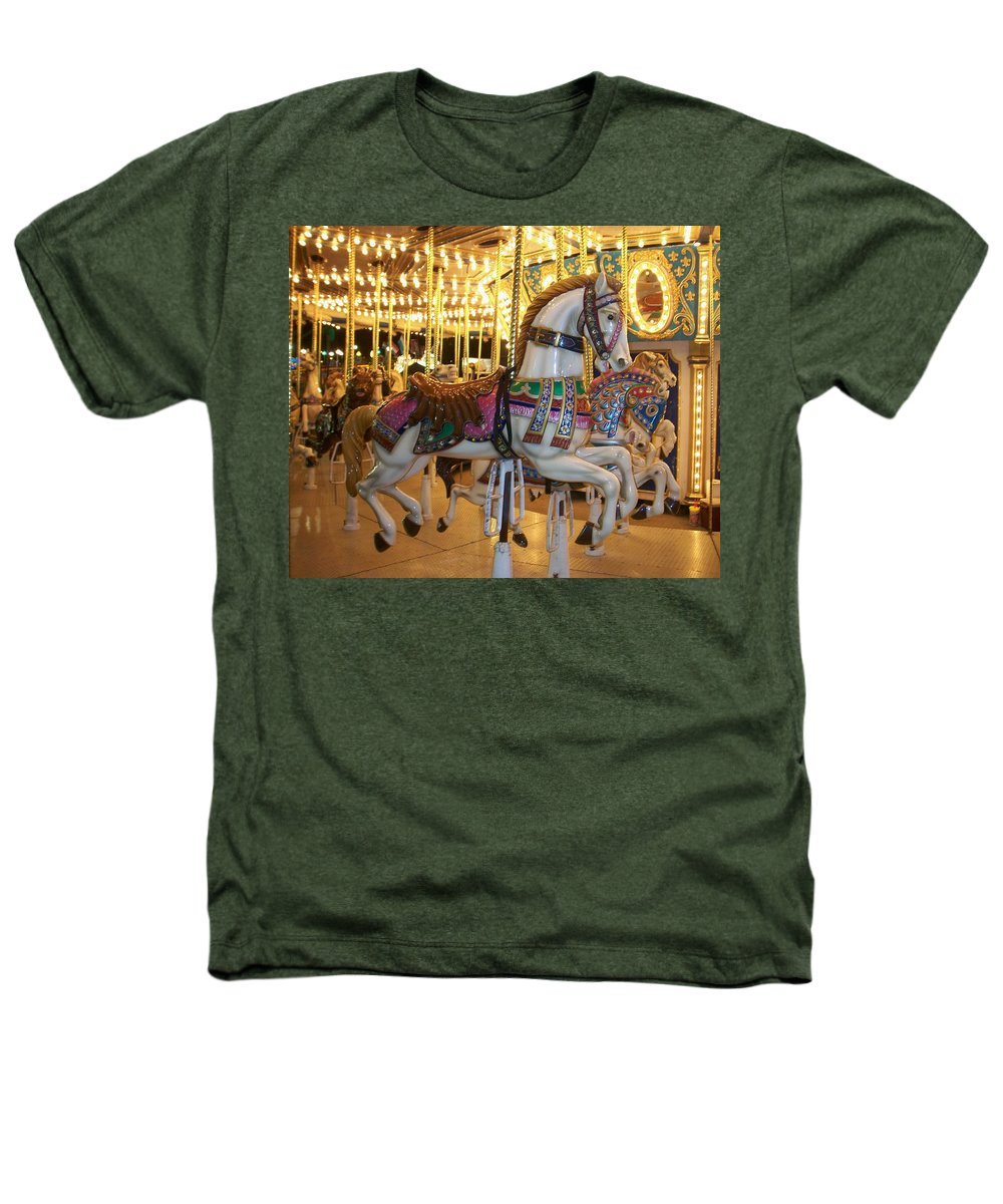 Carosel Horse Heathers T-Shirt featuring the photograph Carosel Horse by Anita Burgermeister