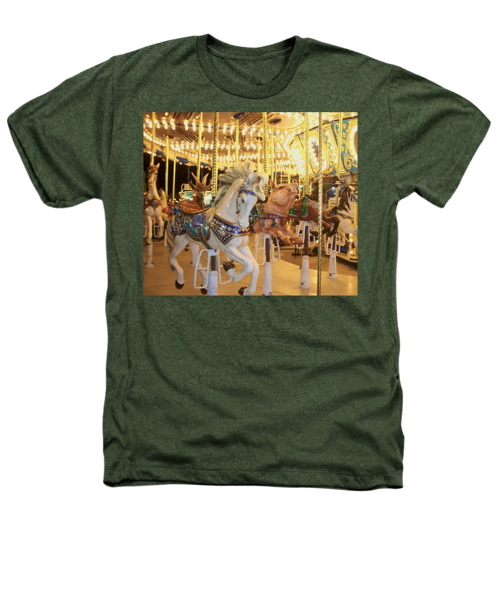 Carosel Horse Heathers T-Shirt featuring the photograph Carousel Horse 2 by Anita Burgermeister