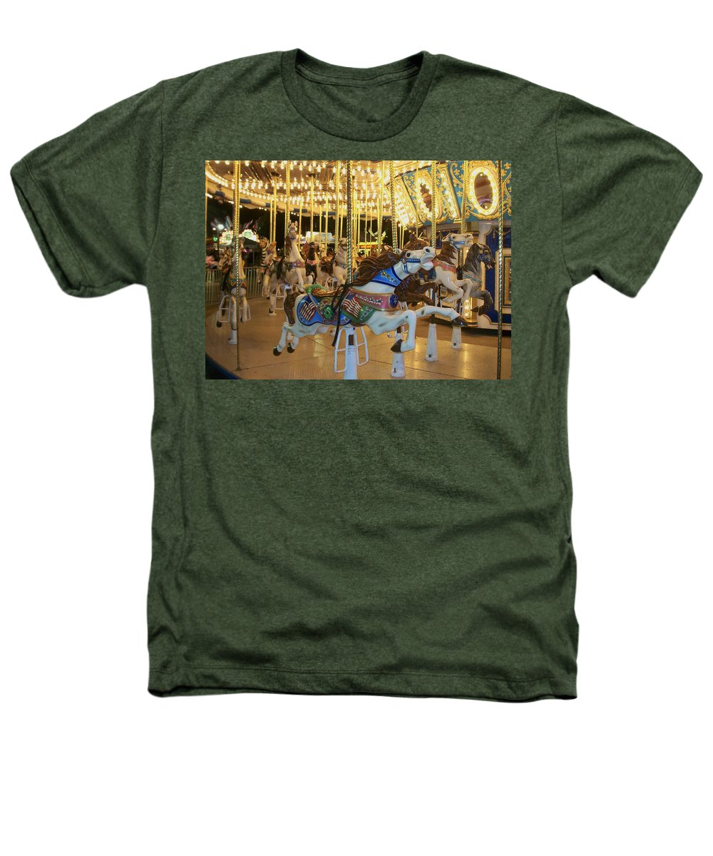 Carousel Horse Heathers T-Shirt featuring the photograph Carousel Horse 3 by Anita Burgermeister