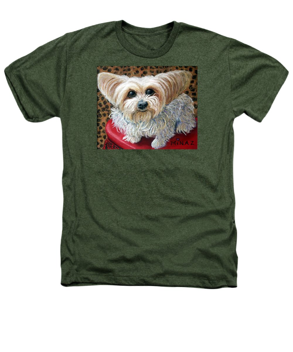 Dog Heathers T-Shirt featuring the painting My Friend by Minaz Jantz