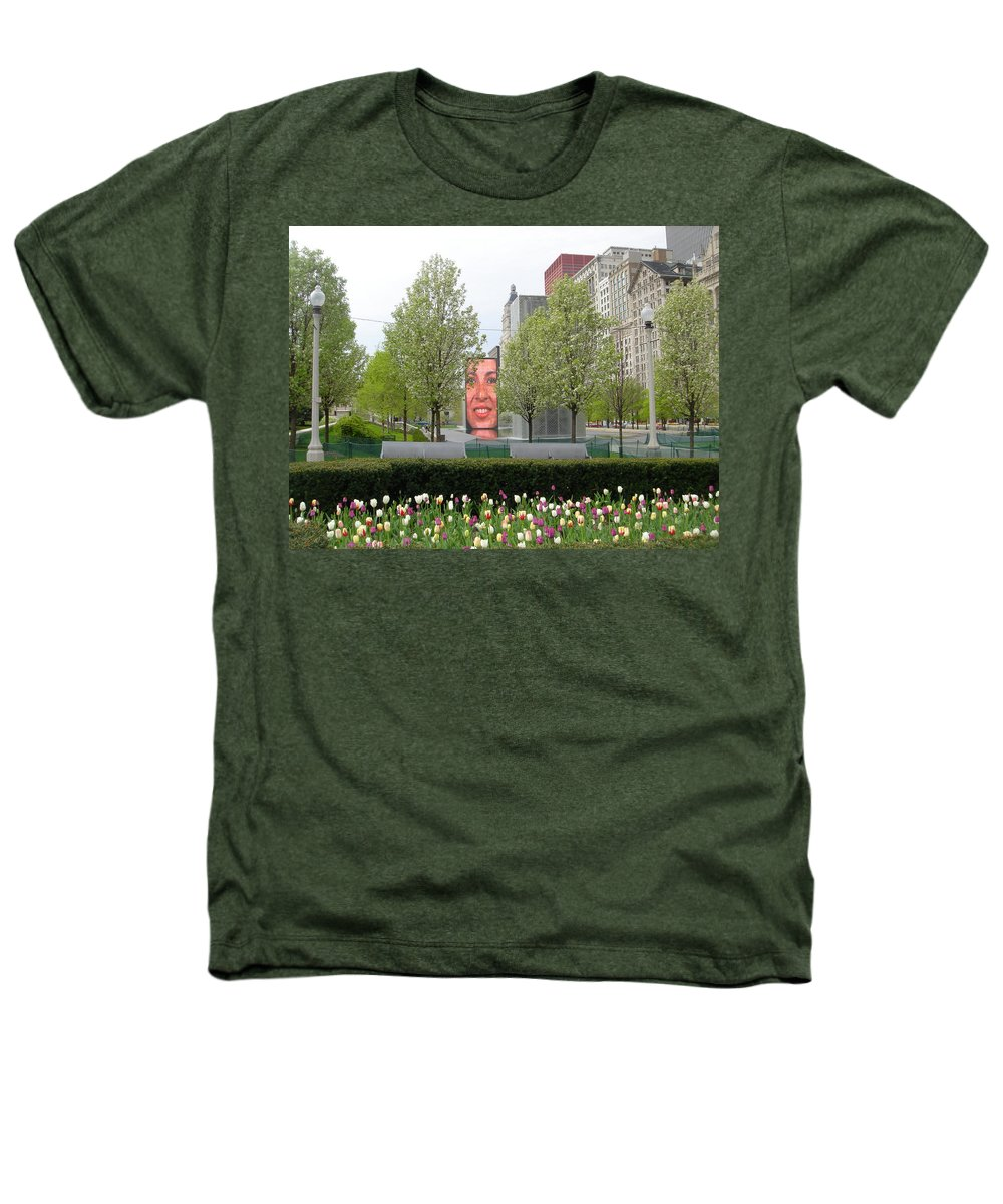 Chicago Heathers T-Shirt featuring the photograph Chicago by Jean Macaluso