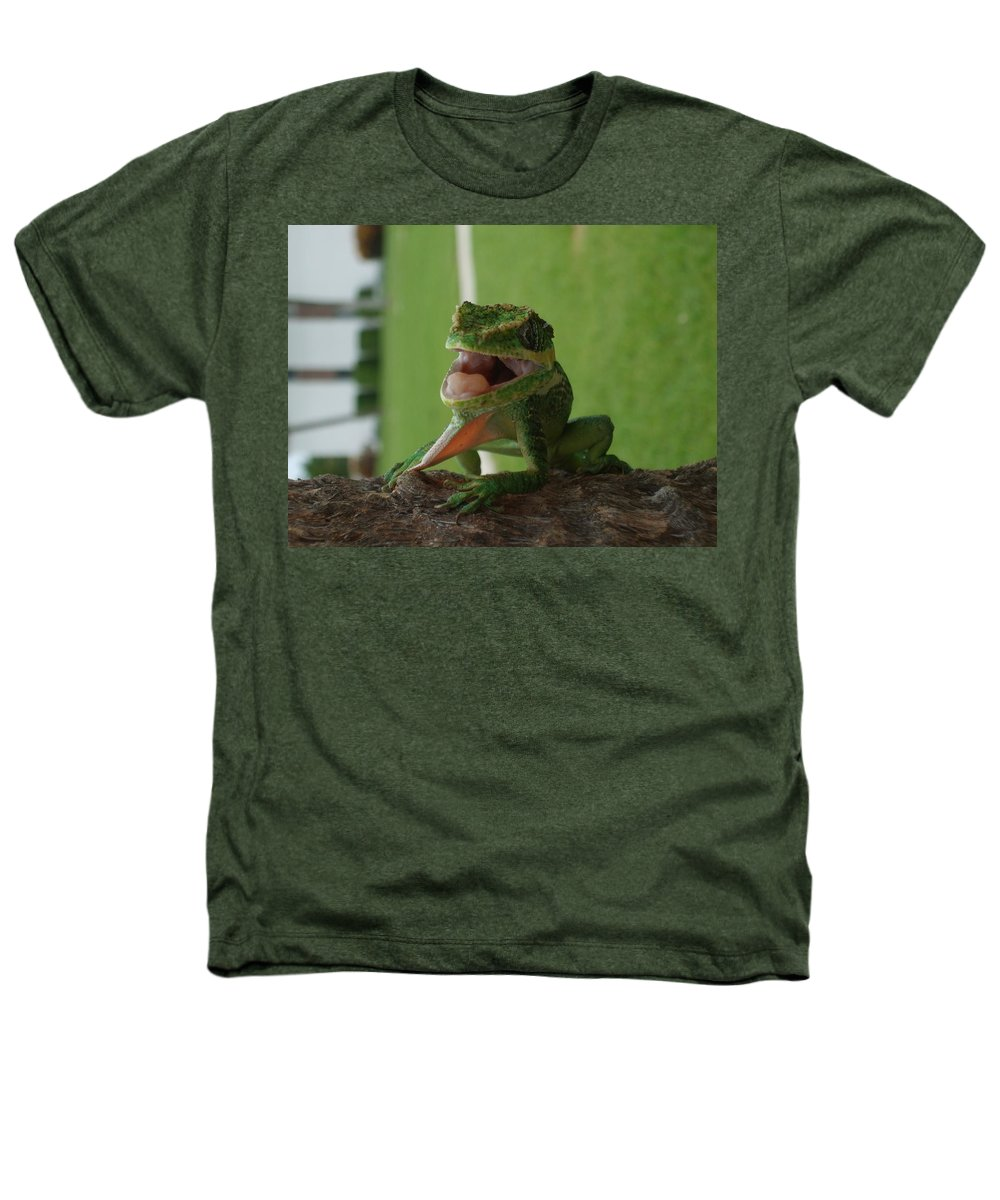Iguana Heathers T-Shirt featuring the photograph Chilling On Wood by Rob Hans