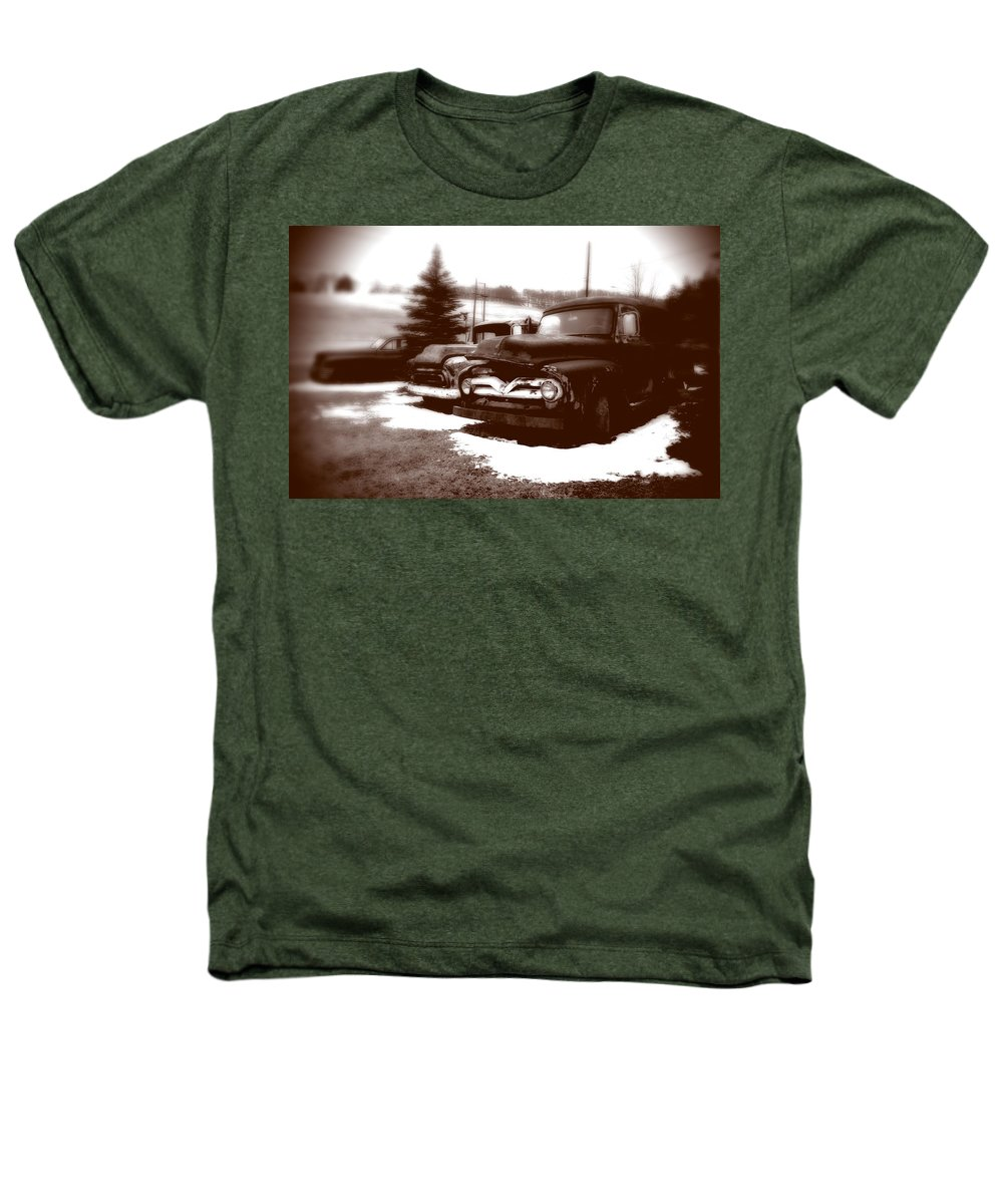 Old Cars Heathers T-Shirt featuring the photograph Chocolate Ghosts by Jean Macaluso