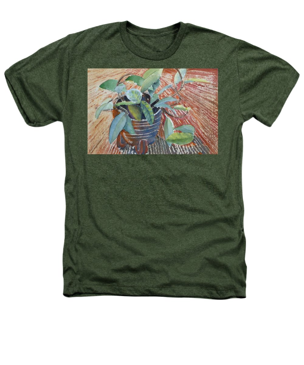 Vine Heathers T-Shirt featuring the painting Clay Pot by Ruth Kamenev