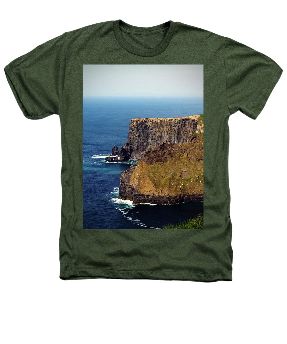 Irish Heathers T-Shirt featuring the photograph Cliffs Of Moher Ireland View Of Aill Na Searrach by Teresa Mucha