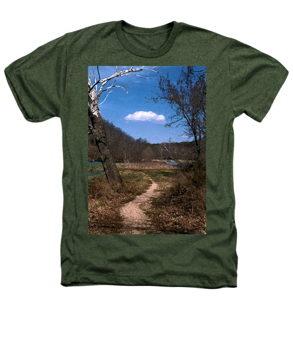 Landscape Heathers T-Shirt featuring the photograph Cloud Destination by Steve Karol