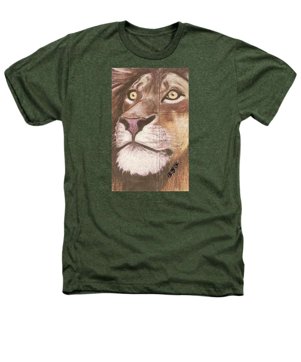 Lions Heathers T-Shirt featuring the painting Concrete Lion by George I Perez