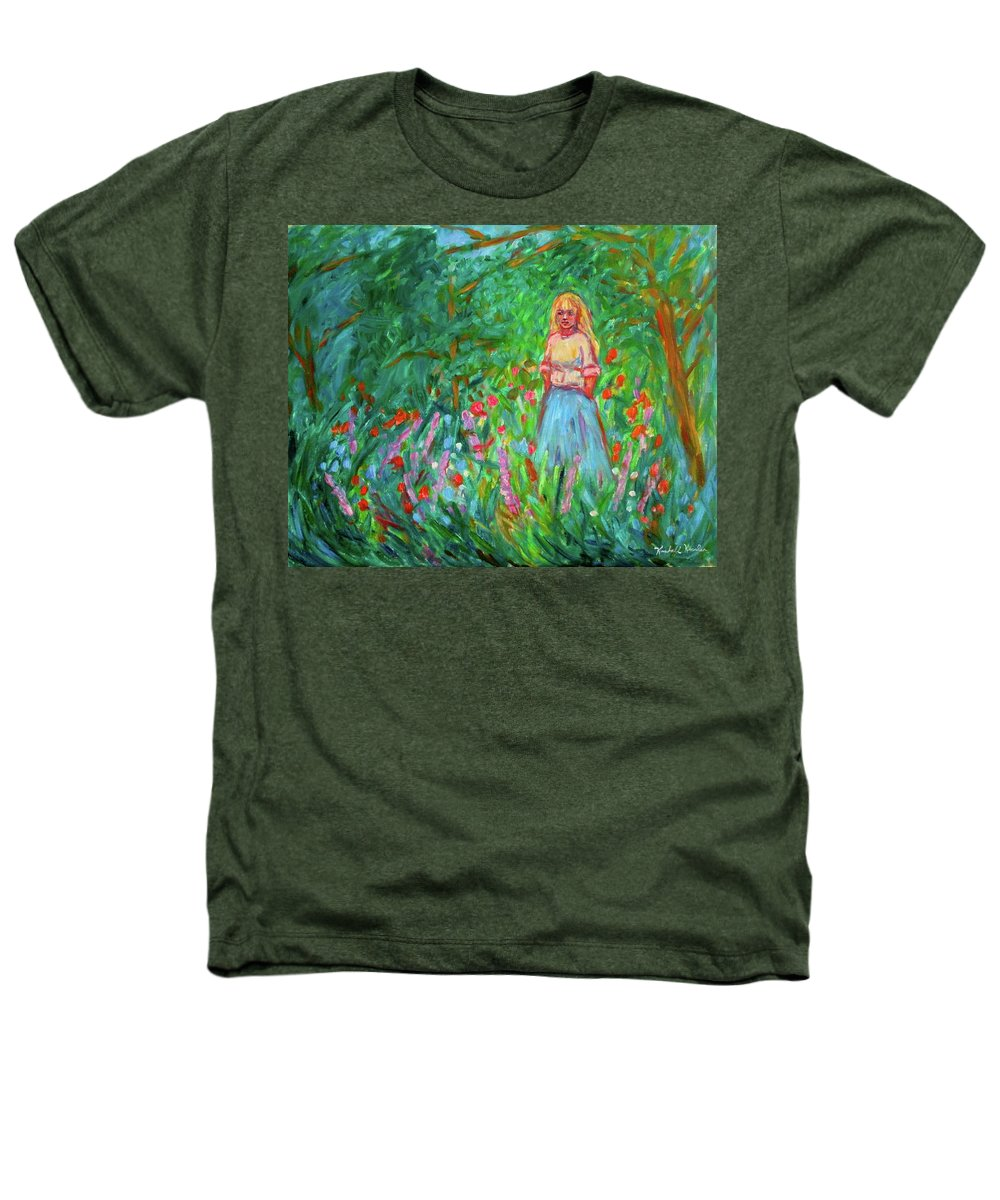 Landscape Heathers T-Shirt featuring the painting Contemplation by Kendall Kessler