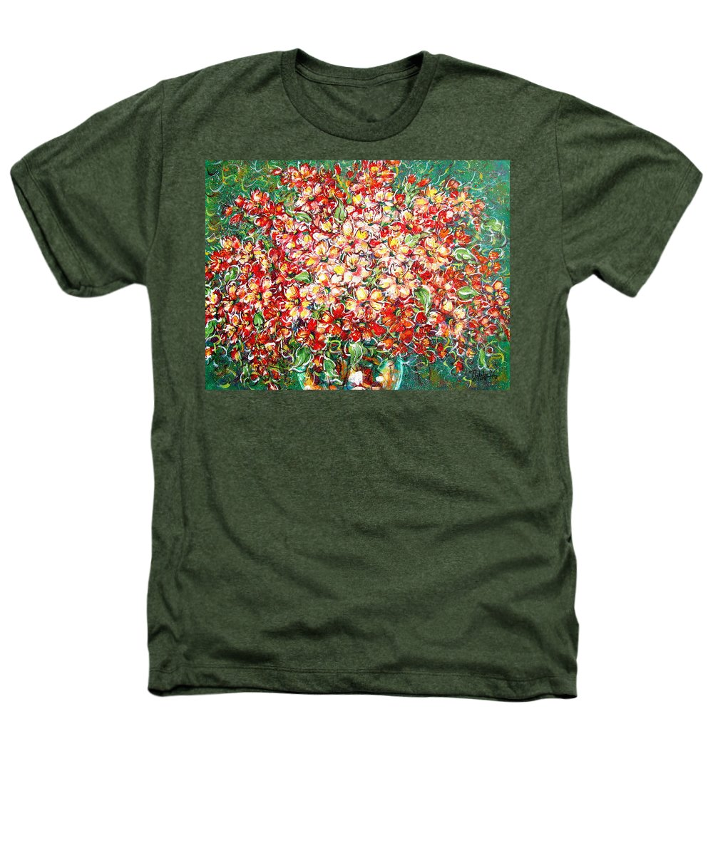Flowers Heathers T-Shirt featuring the painting Cottage Garden Flowers by Natalie Holland